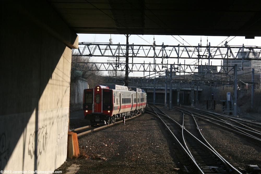 a Grand Central-bound m8 Train