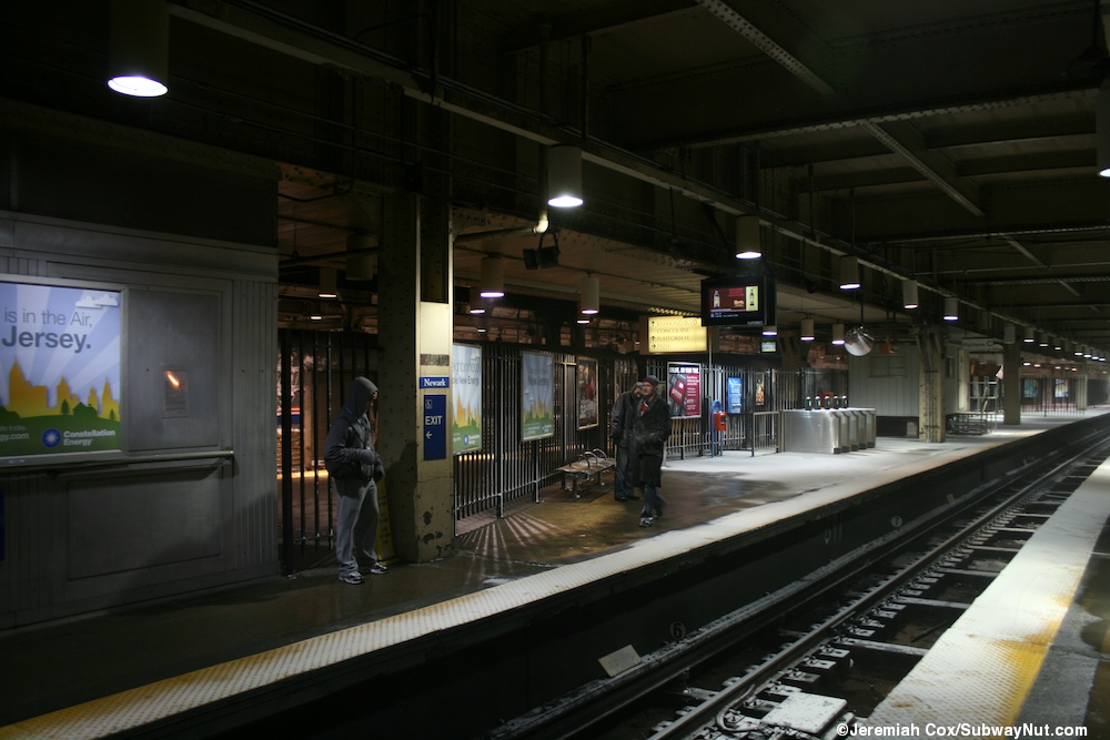 Newark Penn Station Track Level New Jersey Transit S
